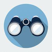 image of binoculars  - Vector binoculars icon - JPG