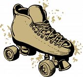 image of roller-derby  - illustration of a Hand drawn Roller skates isolated on white background - JPG