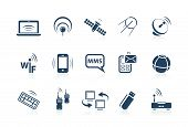 stock photo of piccolo  - Wireless and telecommunication Icons  - JPG