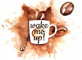 picture of coffee crop  - Illustration of coffee mug with coffee splash - JPG
