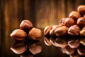 image of filbert  - Raw Organic Hazelnuts - JPG