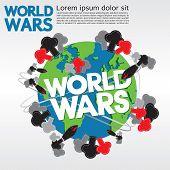 picture of nuke  - World Wars Conceptual Illustration Vector - JPG