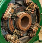 pic of generator  - Open view of a electricity generator brush system - JPG