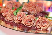 foto of catering  - Catering food at a wedding party .