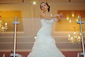 picture of tiara  - bride with tiara pose at the restauraunt - JPG