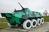 foto of military personnel  - Armoured personnel carrier BTR - JPG