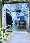 picture of ambulance  - The Inside of a Modern Emergency Ambulance Vehicle - JPG