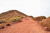 pic of dirt road  - Dirt Road through the Desert in Tenerife Island Spain - JPG
