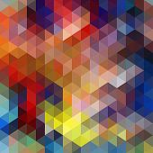 foto of color geometric shape  - Colorful Triangle Abstract Background - JPG