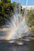 foto of fountains  - Rainbow in the fountain - JPG
