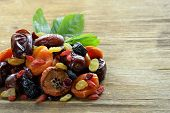stock photo of prunes  - Assorted dried fruits  - JPG