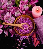 stock photo of salt-bowl  - Spa background - JPG