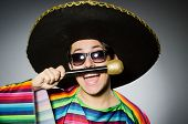 foto of karaoke  - Funny mexican singing in karaoke - JPG