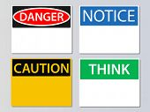 picture of workplace safety  - Workplace signs vector illustration - JPG