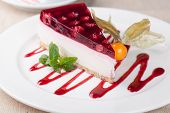 picture of cheesecake  - cheesecake on a white plate - JPG