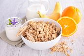 picture of cereal bowl  - bowl of cereal - JPG