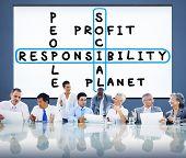 stock photo of responsibility  - Social Responsibility Reliability Dependability Ethics Concept - JPG