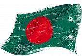 picture of bangladesh  - Bangladeshi grunge flag - JPG