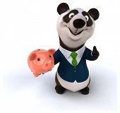 stock photo of panda  - Fun panda - JPG