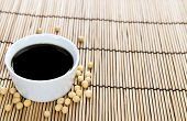 stock photo of soy sauce  - Portion of Soy Sauce in a small bowl - JPG