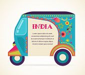 picture of rickshaw  - India  - JPG