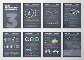picture of brochure  - Big set of modern infographic vector elements for web - JPG