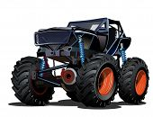 stock photo of monsters  - Cartoon Monster Truck - JPG