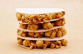 foto of hazelnut  - Cupete a traditional Piedmontese dessert made with walnuts hazelnuts and honey - JPG