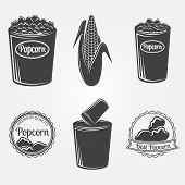 picture of popcorn  - Popcorn logo  - JPG