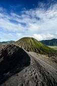 image of bromo  - Crater rim of active volcano Gunung Bromo in Java Indonesia - JPG