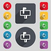 picture of mailbox  - Mailbox icon sign - JPG
