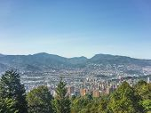 image of medellin  - Beautiful aerial view of city and mountains in Medellin one of the most important cities of Colombia in South America  - JPG