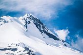 foto of hoods  - Magnificent Mount Hood Snowy Summit - JPG