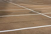 picture of parking lot  - Empty Parking Spaces for transportation background with room for copy - JPG