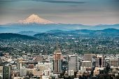 picture of hoods  - Portland and Mount Hood Panorama - JPG