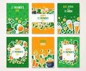 Patricks Day Greeting Cards Set poster