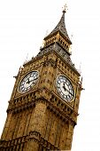 pic of big-ben  - big ben isolated over a white background - JPG