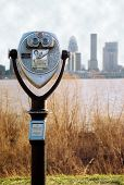 Binoculars With Louisville Skyline