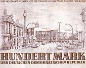 Постер, плакат: Ddr Banknote Vintage