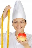 Attractive Woman Happy Cook poster
