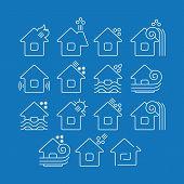 Постер, плакат: Natural Disaster Icons
