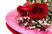 foto of valentine candy  - red roses with baby - JPG