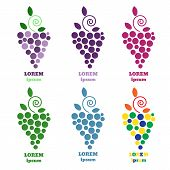 Постер, плакат: Eps 10 Grapes Vector Isolated Grapes Icon Grapes Logo Grapes Wine Or Grapes Vine Grapes With Gre