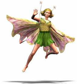 stock photo of tinkerbell  - a fairy tale figure like an elf or something like that - JPG