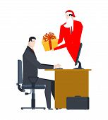 Online Santa Claus Congratulations. Christmas In Computer. Order Gifts Oninternet. Compliments On Ne poster