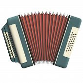 picture of accordion  - Russian accordion with two rows of buttons - JPG
