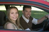 Couple Driving poster