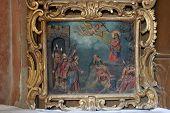 image of gethsemane  - Jesus prays while the disciples sleep - JPG