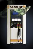 stock photo of high-octane  - Concept Image Gas pump blank price cards and sign