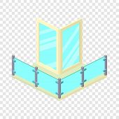 Penthouse Balcony Icon. Isometric Illustration Of Penthouse Balcony Vector Icon For Web poster